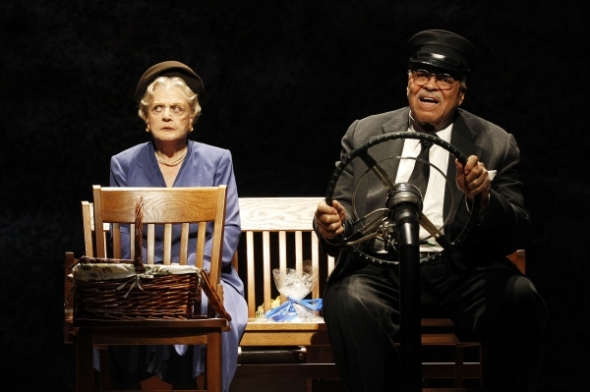 Angela Lansbury and James Earl Jones on stage in Driving Miss Daisy (Jane not pictured).